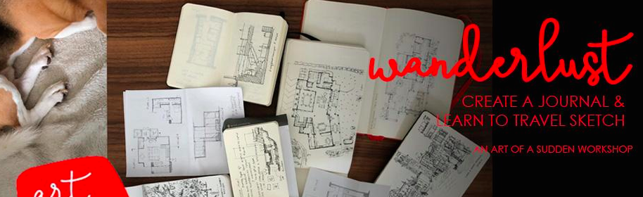 18  & 19 Aug, WANDERLUST - create a journal & learn to travel sketch