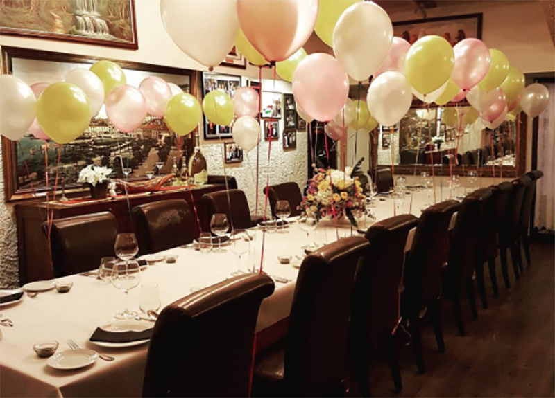 Ristorante Da Valentino restaurant to celebrate birthday