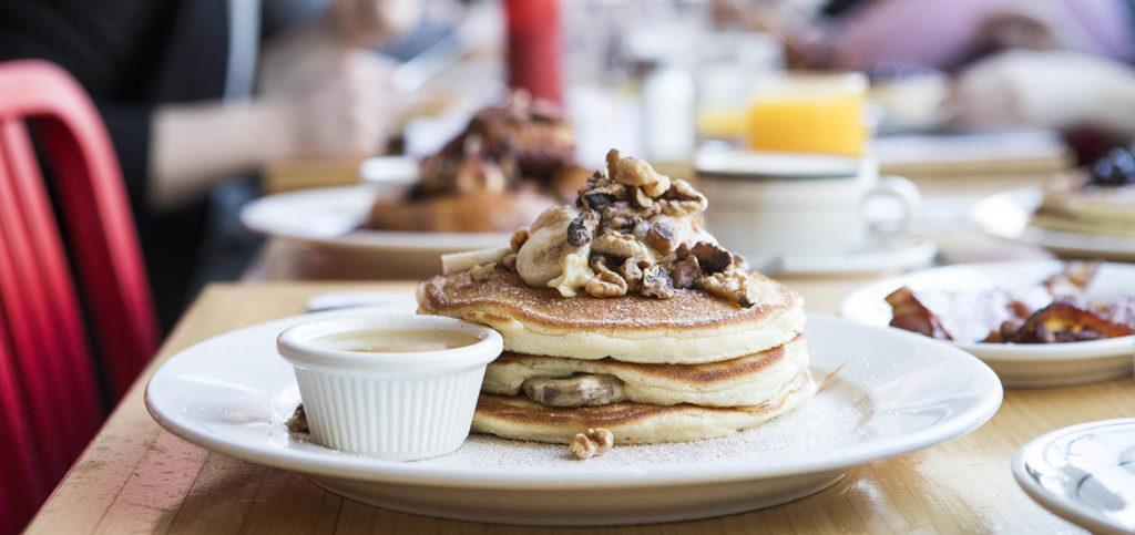 Banana Walnut Pancakes at Clinton Street Baking Company